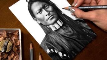 Arte De Desenhar Rostos Humanos De Forma Perfeita, É Magnifico De Ver!