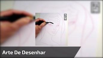 Arte De Desenhar, Veja Como Parece Fácil. Mas É Preciso Muito Tecnita E Dom!