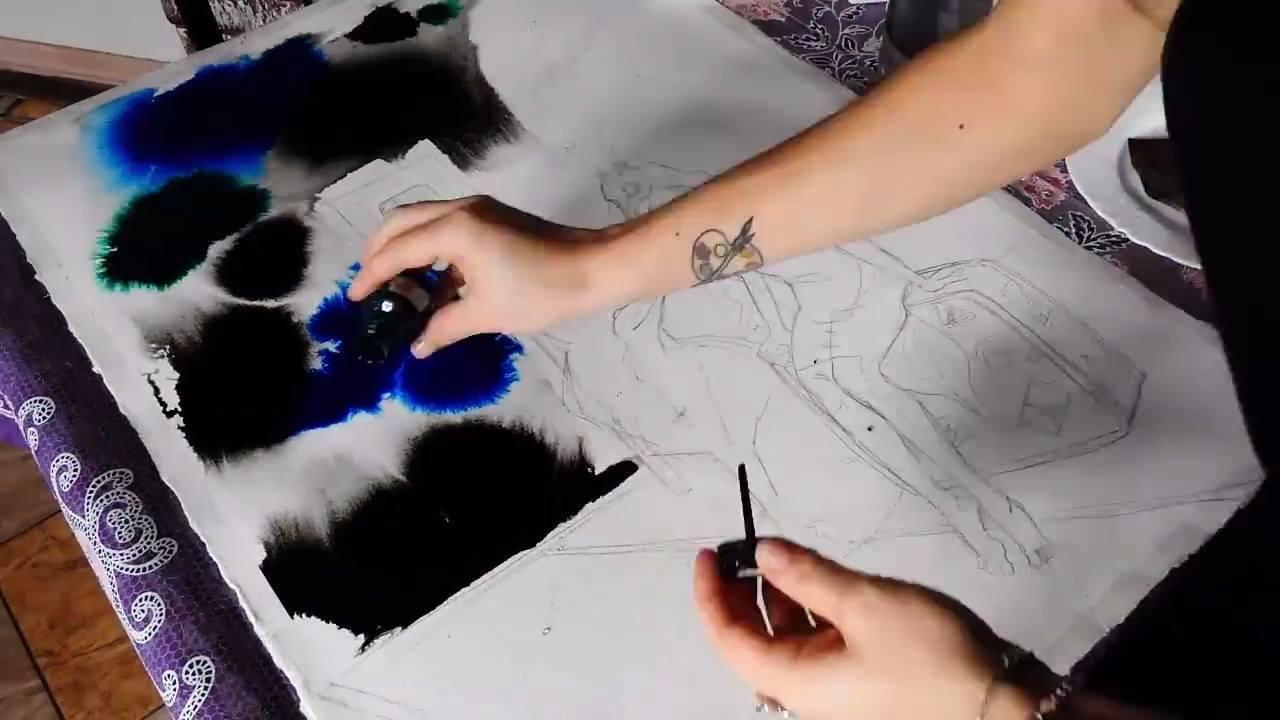 Arte de pintar de forma mágica
