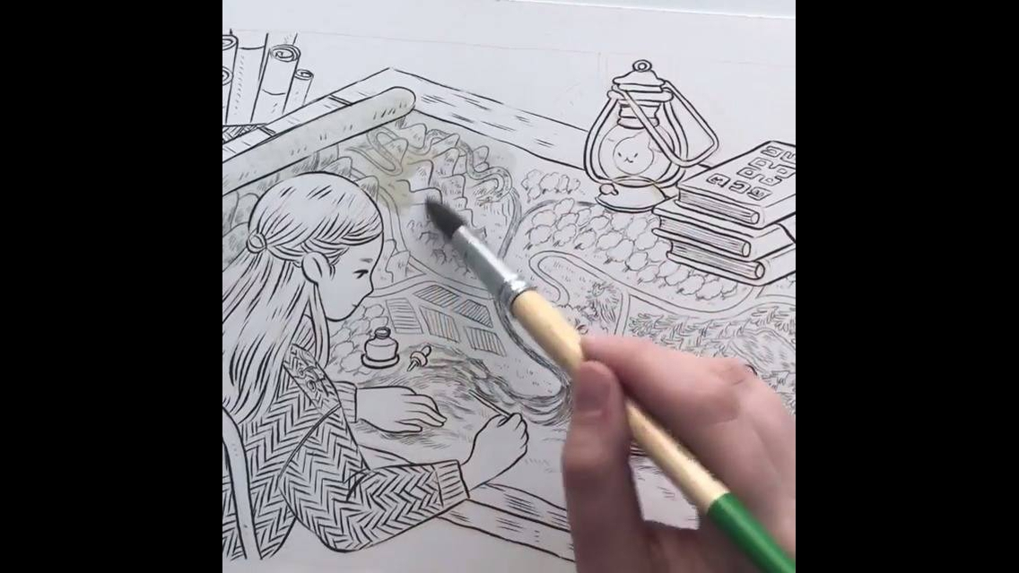 Arte de pintar desenhos de forma linda e maravilhosa