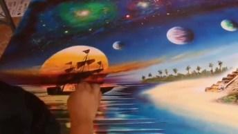 Arte De Pintar Quadros Com Tinta Spray, Simplesmente Maravilhoso!