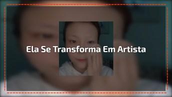 Arte De Se Transformar Em Qualquer Artista Famosa, Veja O Que Esta Moça Faz!