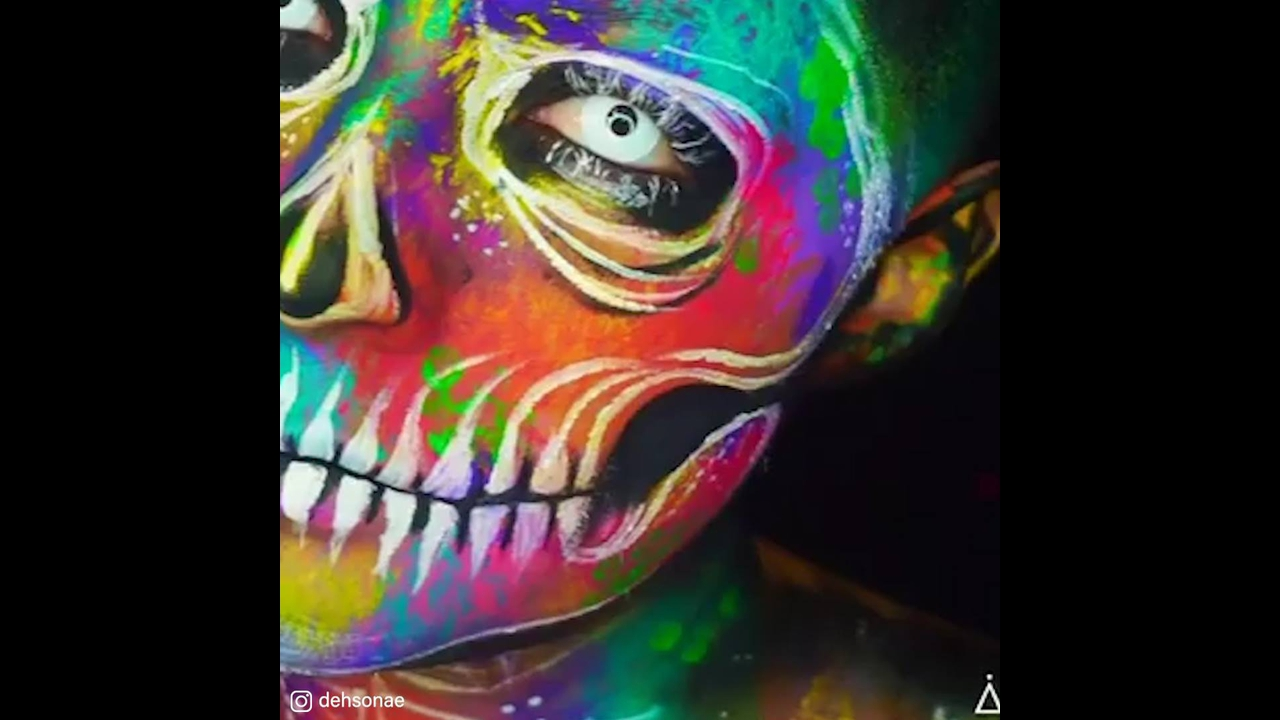 Arte de se transformar em seres assustadores
