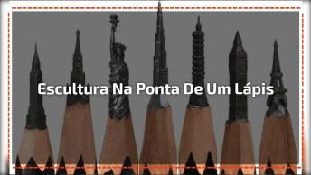 Arte De Transformar A Ponta De Um Lápis Em Uma Escultura, Simplesmente Incrível!