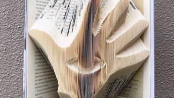 Arte De Transformar Livros Em Imagem Apenas Com Dobraduras!