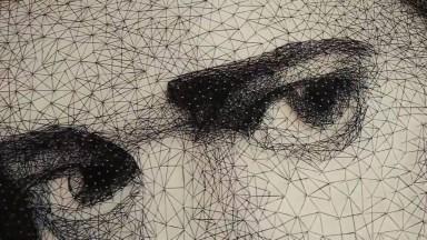 Arte De Transformar Pregos E Linha, Em Uma Linda Obra De Arte!