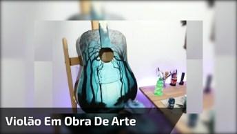 Arte De Transformar Um Violão Velho Em Uma Linda Obra De Arte!