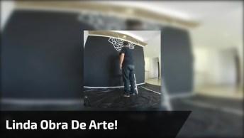 Arte De Transformar Uma Parede Em Uma Obra De Arte, Muito Linda!