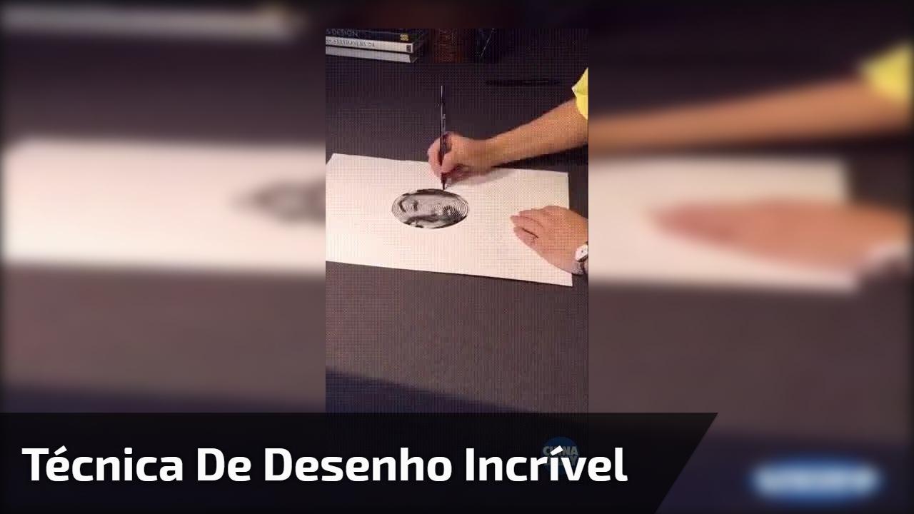 Técnica de desenho incrível