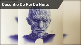 Artista Desenha O 'Rei Da Noite' De 'Game Of Thrones' Só Olhando Para Foto!
