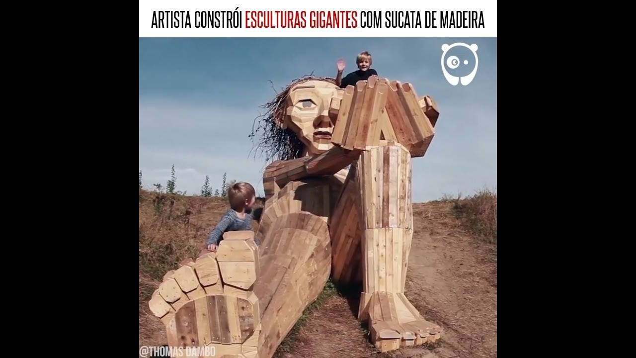 Artista faz esculturas com sucatas de madeiras incríveis