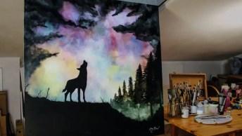 Artista Pintando Um Quadro, Veja Que Belíssima Imagem Que Ele Pintou!