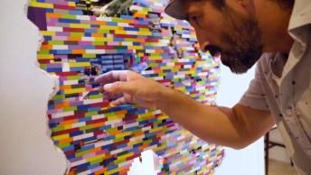 Artista Plástico Que Usa Lego Para Fazer Suas Artes Em Paredes!