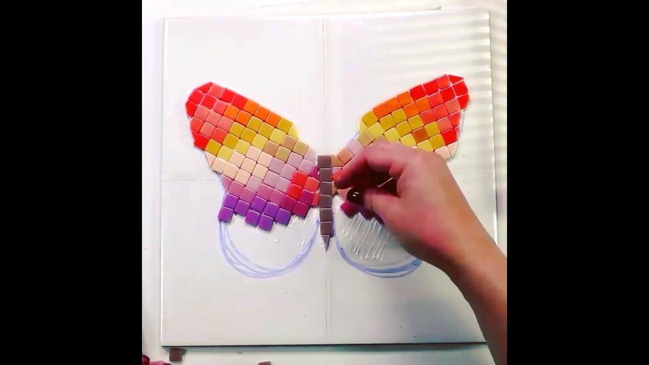 Borboleta colorida, mais uma arte que é bem fácil de fazer