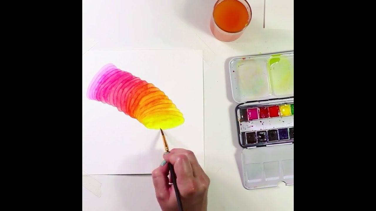 Confira um desenho de várias cores que se transformou em obra de arte