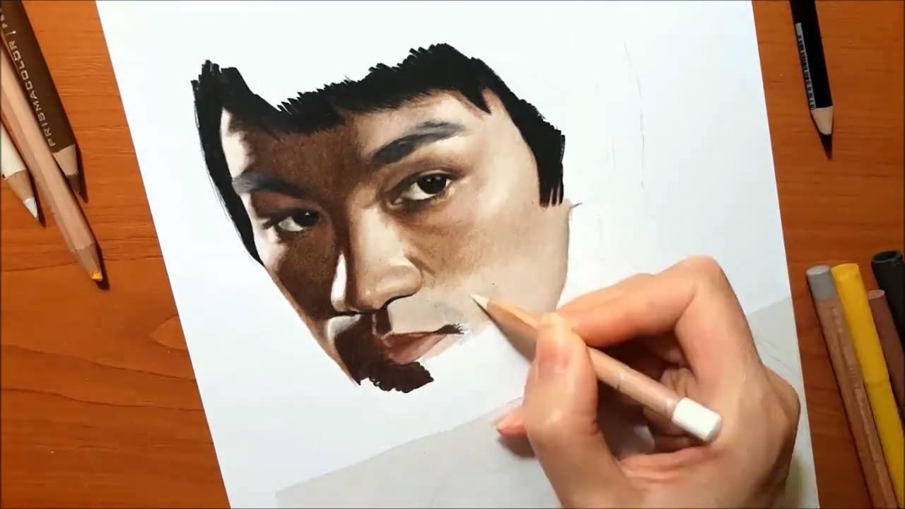 Desenho da imagem de Bruce Lee
