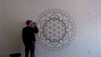 Desenho Da Parede Que Se Tornou Uma Linda Obra De Arte, Confira!