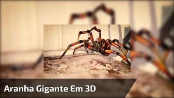 Desenho De Aranha Gigante Em 3D, Que Sensacional, Confira!