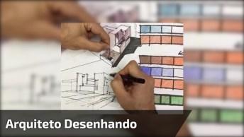 Desenho De Arquiteto Com Técnica De Três Pontos, Impressionante!