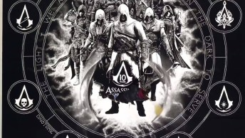 Desenho De Assassins Creed Feito Com Sal, Simplesmente Fantástico!