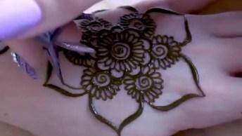 Desenho De Henna Nas Mãos E Braços, Um Trabalho Que É Uma Arte!
