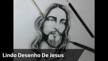Desenho De Jesus Cristo Feito De Cabeça Para Baixo, Simplesmente Fantástico!