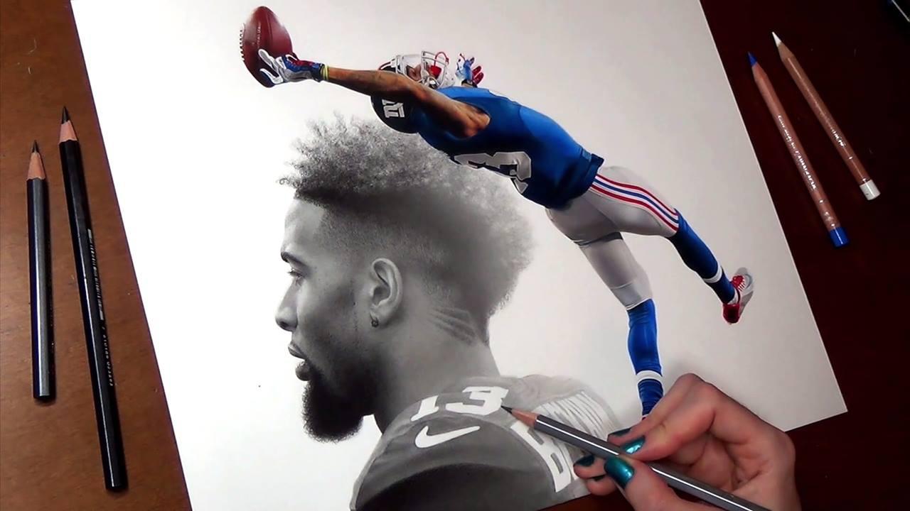 Desenho de jogador de futebol americano