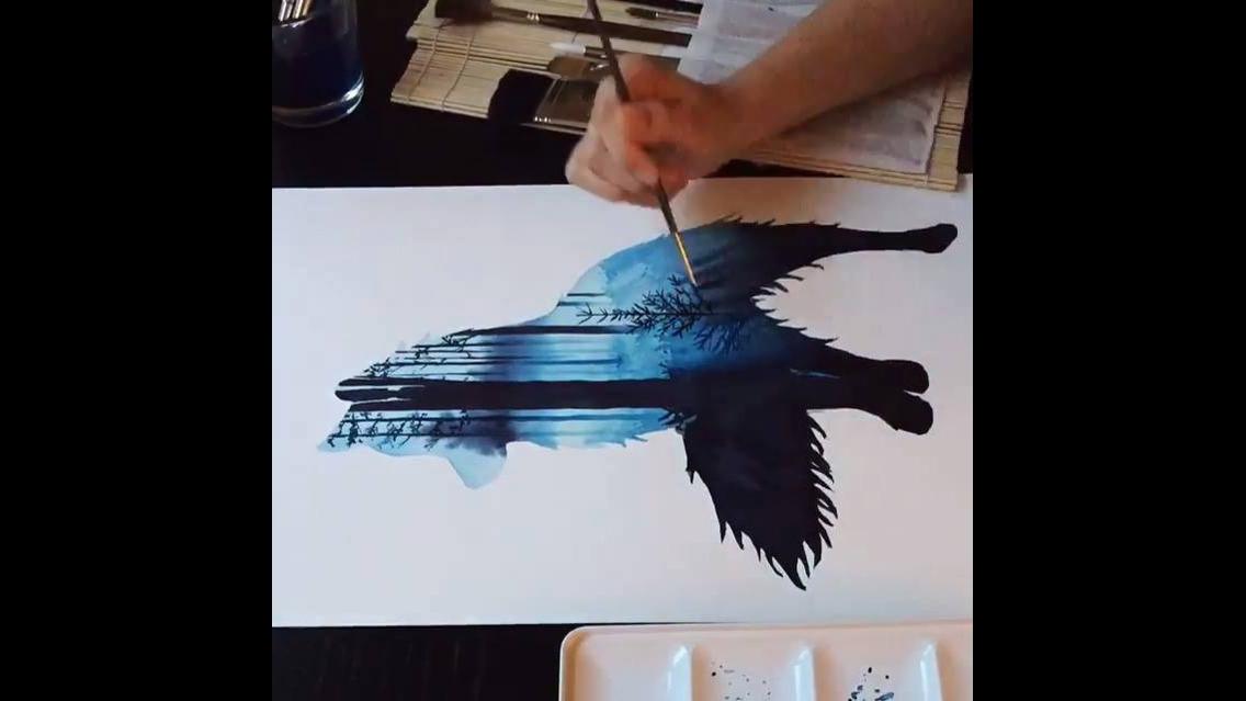 Desenho de lobo lindo