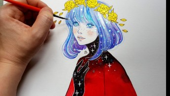 Desenho De Menina Com Efeitos Que Você Pode Aprender, Uma Verdadeira Arte!