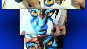 Desenho De Neytiri Do Filme 'Avatar', Olha Só Que Trabalho Perfeito!