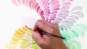 Desenho De Obra De Arte Em Espiral, Um Belo Trabalho!