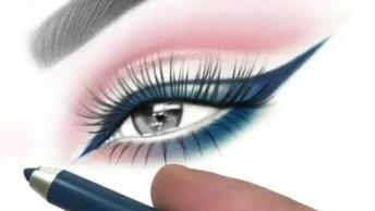 Desenho De Olho Maquiado, O Resultado Surpreende A Todas!
