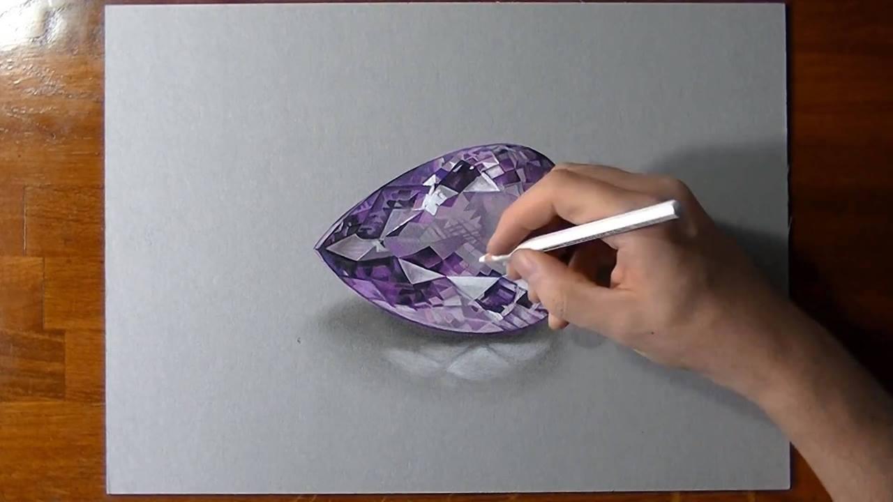 Desenho de pedra preciosa em realidade aumentada