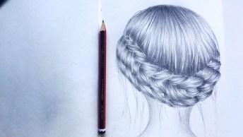 Desenho De Penteado Feminino - Parece Mesmo Uma Foto, Confira!