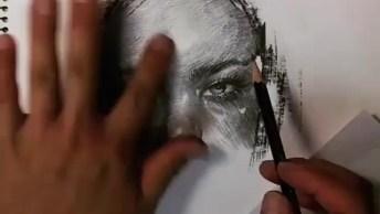 Desenho De Pessoa A Lápis, Fica Muito Bonito O Resultado!