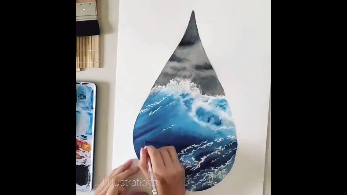 Desenho de tempestade em alto mar simplesmente fantástico