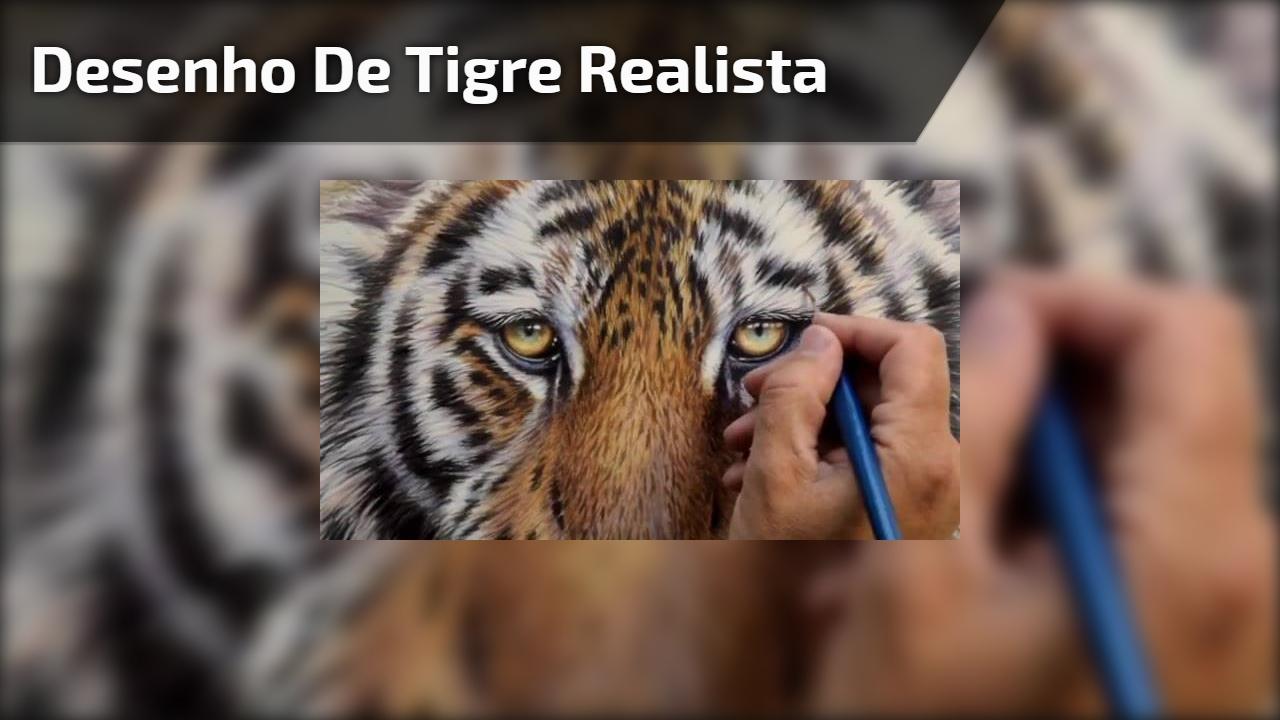 Desenho de tigre realista