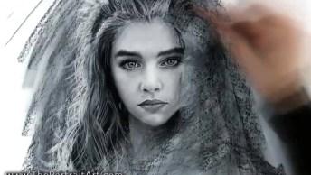Desenho De Um Rosto Feminino, Ficou Parecendo Uma Fotografia!