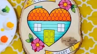 Desenho De Uma Casa Dentro De Um Coração, Perfeito Para Por Na Entrada Da Casa!