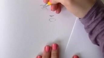 Desenho De Uma Menina, Ficou Perfeita, Confira E Compartilhe!