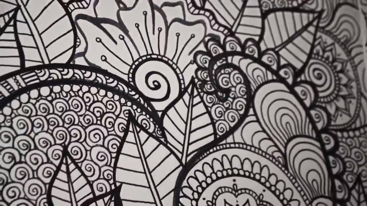 Desenho diferente na sala