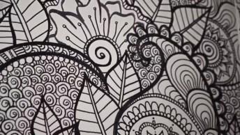 Desenho Diferente Na Sala, Perfeito Para Decorar A Sua Casa Com Obra De Arte!