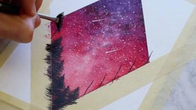 Desenho Do Céu Com Arvores Maravilhoso, Olha Só Que Obra De Arte!
