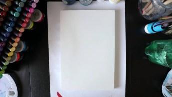 Desenho Do Fundo Do Mar Feito Com Tinta Que Brilha No Escuro, Efeito Incrível!