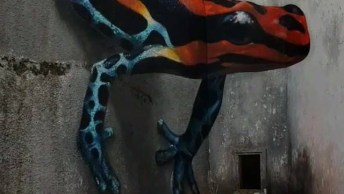 Desenho Em 3D Em Muro, Parece Muito Real, Confira E Compartilhe!