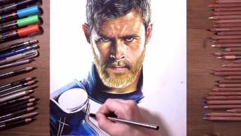 Desenho Fabuloso De Thor, Olha Só Que Incrível Os Detalhes Do Rosto!