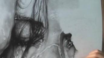 Desenho Fantástico De Rosto Molhado, Olha Só Que A Riqueza De Detalhes!