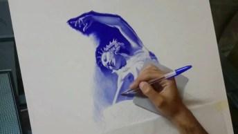 Desenho Feito Com Caneta Esferográfica, É Simplesmente Impressionante!