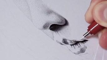 Desenho Feito Com Milhares De Pontinhos Super Realístico, Olha Só Que Incrível!