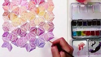Desenho Geométrico Feito A Mão Que Ficou Simplesmente Incrível, Confira!